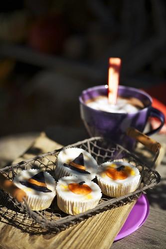 Kürbis-Cupcakes für Halloween