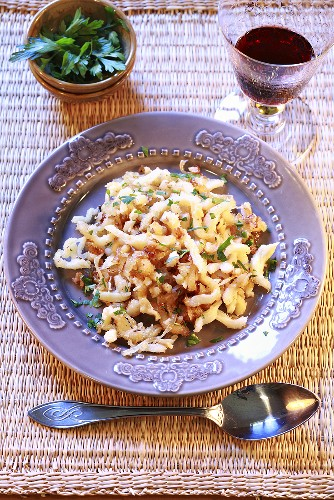 Lyon-style tripe with onions and parsley