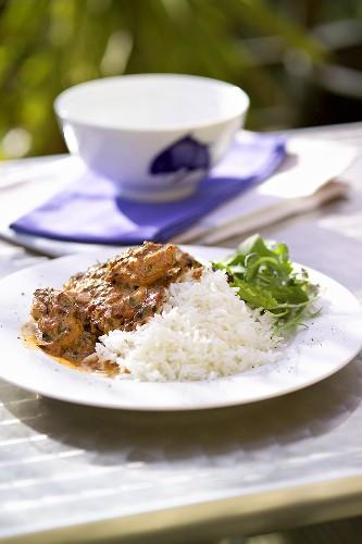 Monkfish ragout with rice