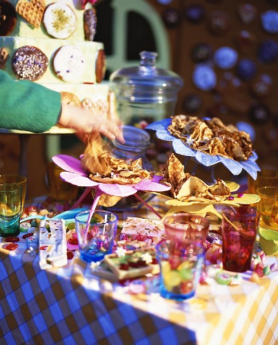 Children's sweet buffet with crepes