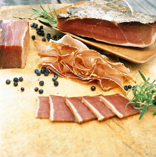 South Tyrolean Speck (bacon) with juniper berries & herbs