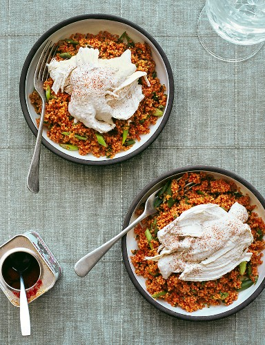 Pepper couscous with chicken