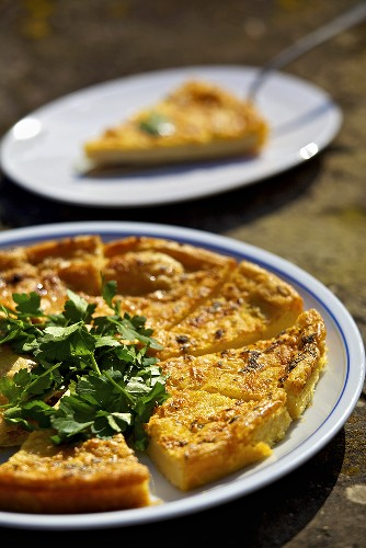 Torta di ceci (a tart made with chickpea flour, Italy)