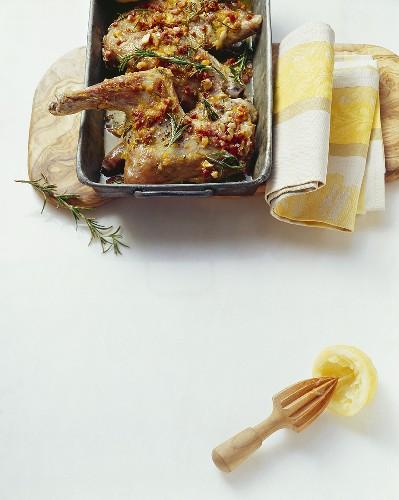 Capretto agli agrumi (Kid with citrus fruit sauce, Italy)