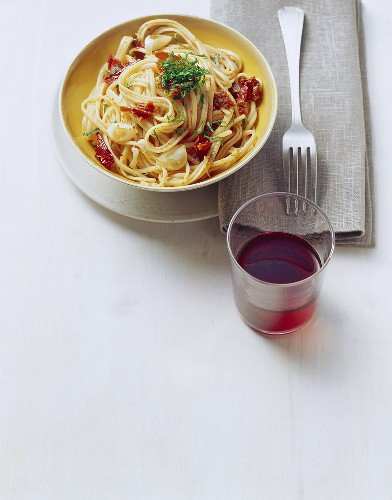 Linguine alla potentina (Pasta with dried peppers)