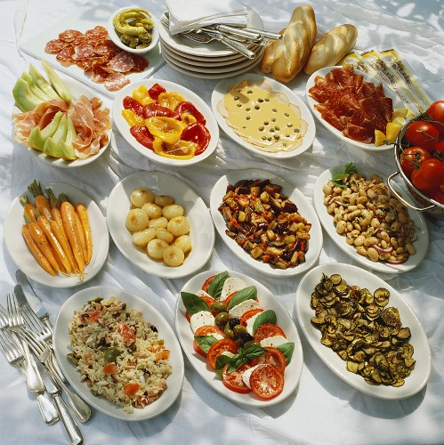 Antipasti misti (Appetiser buffet, Italy)