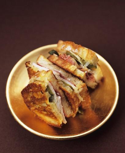 Turkey, ham and cheese sandwiches