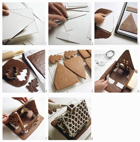 Baking gingerbread house