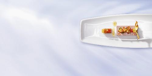 Brunswick Mum jelly with liver pate (molecular gastronomy)