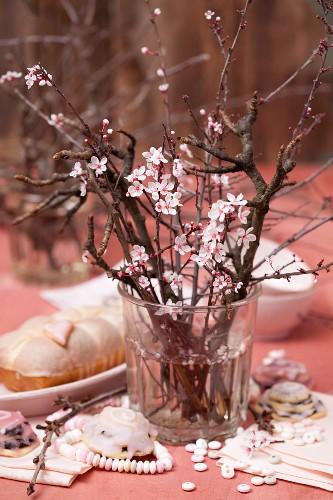 A flowering almond sprig