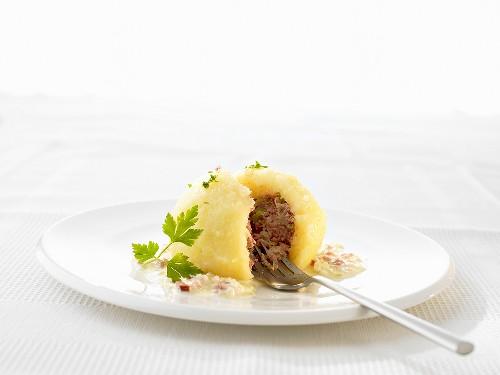 Stuffed dumpling (Speciality from Saarland, Germany)