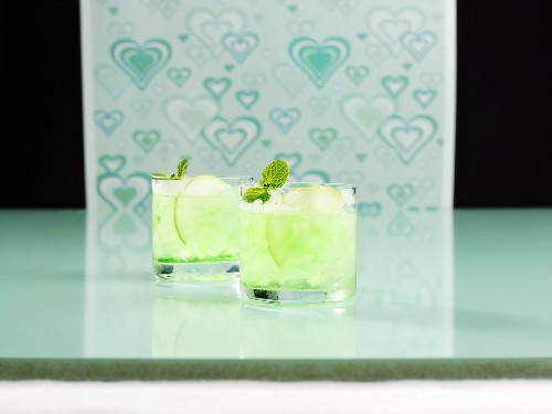 Two glasses of Apple Mint Julep