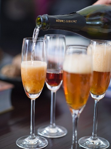 Sparkling wine cocktail with Angostura bitters