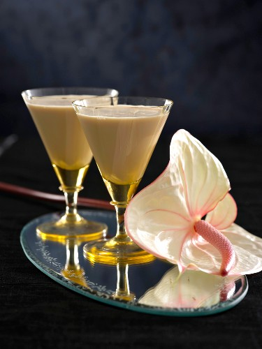 A cocktail with Amarula, milk and vodka
