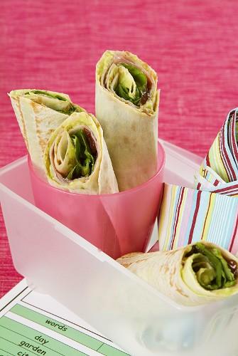 Turkey wraps for children