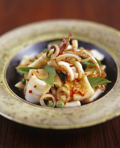 Stir-fried squid with chilli (Thailand)