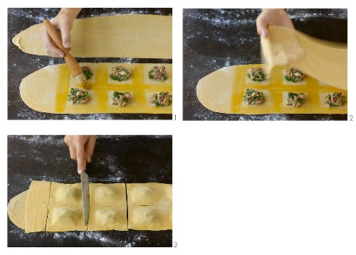 Making venison ravioli