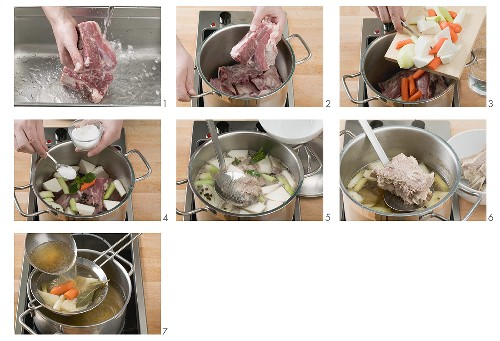 Making beef stock