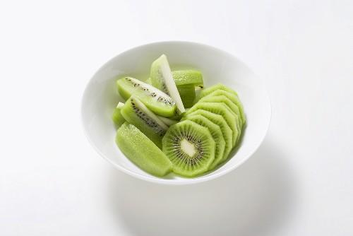 Kiwi fruit, peeled and sliced