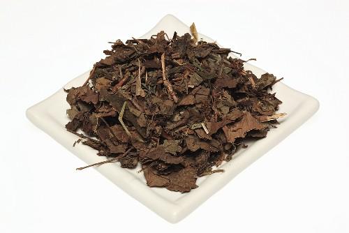 Getrocknete Blätter der Chamäleonpflanze (Chinesischer Eidechsenschwanz, Houttuynia cordata, Yu Xing Cao)