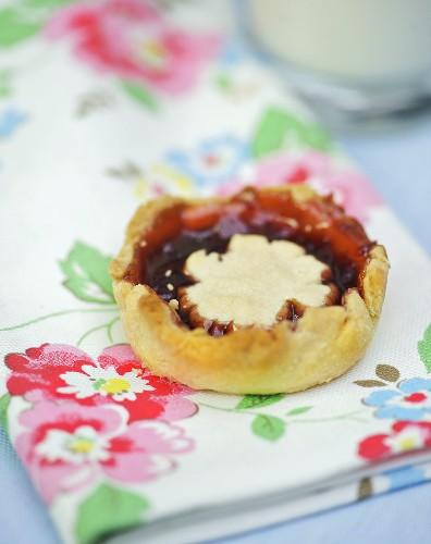 Jam tart for afternoon tea