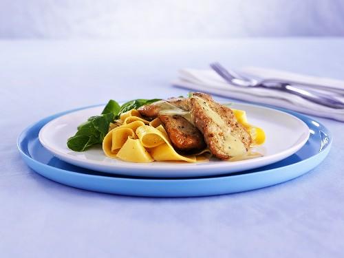 Pork escalopes with ribbon pasta and Amarula sauce