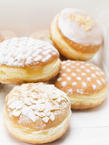 Assorted Carnival doughnuts in box