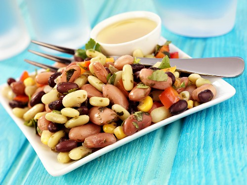 Three bean salad with vinaigrette