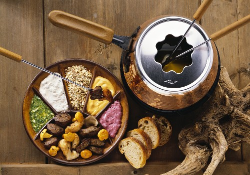 Hunt-Style Fondue with Game & Chanterelles