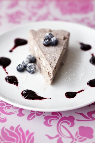A slice of blueberry parfait