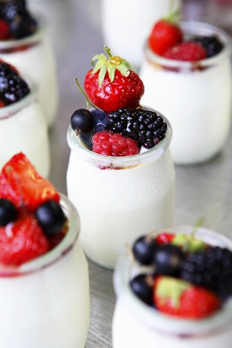 Yoghurt with fresh berries