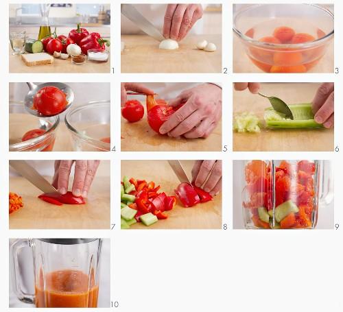 Making gazpacho