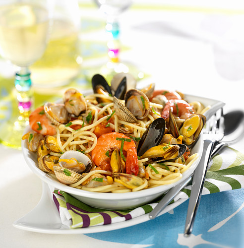 Seafood spaghettis