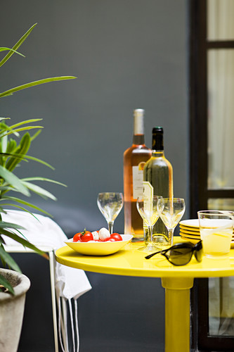 Aperitif atmosphere on the terrace