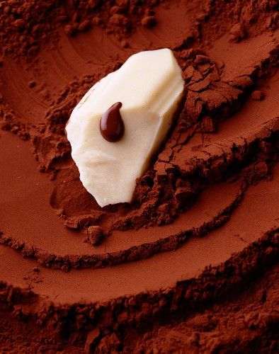 cocoa powder and knob of butter