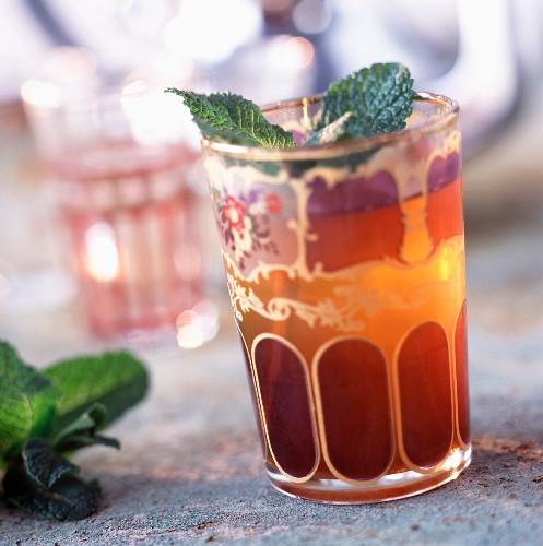 Glass of mint tea