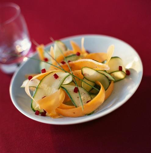 Vegetable tagliatelles