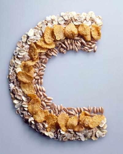 Cereals arranged in C shape