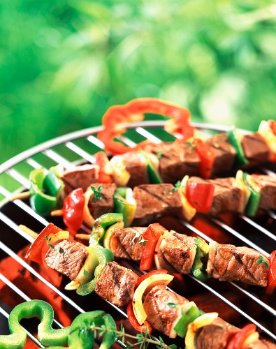 Kebabs on barbecue