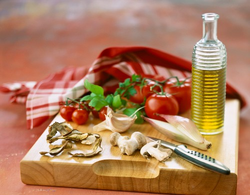 Composition of ingredients for Italian recipe
