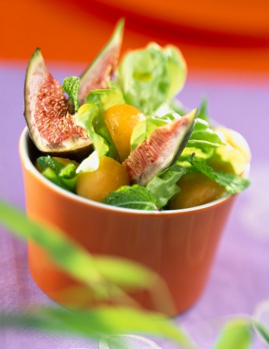 fig and melon salad with argan oil