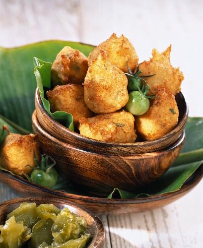 Cod acra balls (topic: Robuchon recipe)