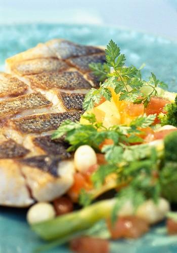 Branzini with Guérande sea salt as an appetiser