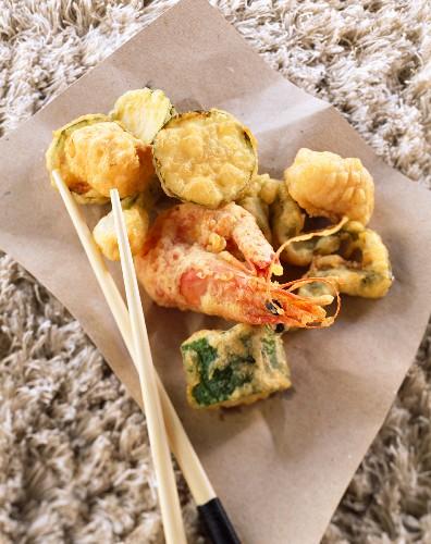 Prawn and vegetable tempura