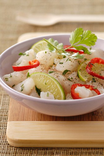 Peruvian fish salad