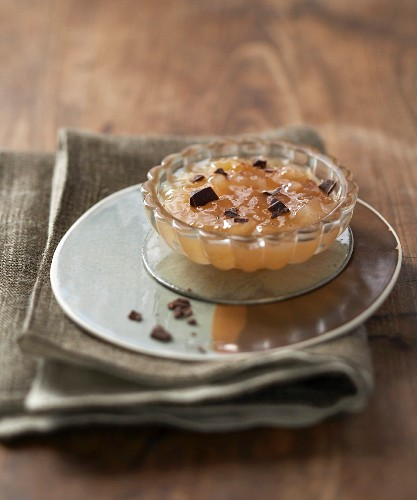 Pear jam with chocolate chips