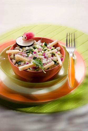 Raw winter vegetable salad