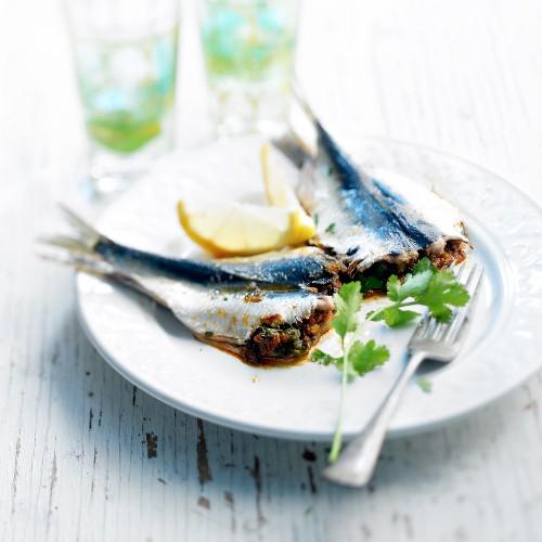 Sardine and Chermoula sauce Tajine