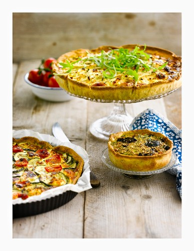 Variety of quiches