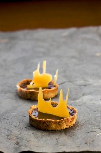 Chocolate and orange tartlet